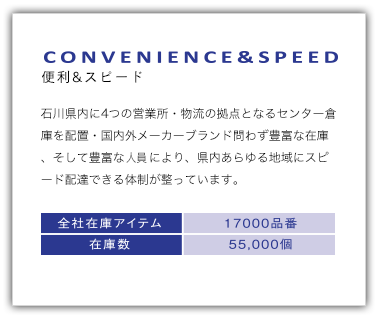 CONVENIENCE&SPEED